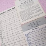 チケット、スコアパッドなどの紙物・紙モノ雑貨  紙モノ雑貨 CANASTA 3種類セット