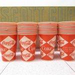 アドバタイジング・組織系  コカコーラ 紙コップ ワックス加工済み デッドストック 10個セット