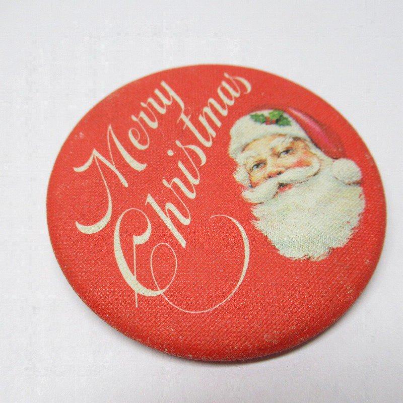 缶バッチ クリスマス サンタ Merry Christmas