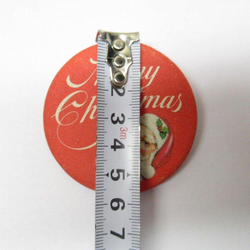 缶バッチ クリスマス サンタ Merry Christmas【画像4】