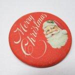 クリスマス  缶バッチ クリスマス サンタ Merry Christmas