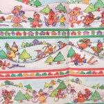 クリスマス ラッピングペーパー 小動物と冬の遊び