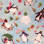 クリスマス ラッピングペーパー ペンギン