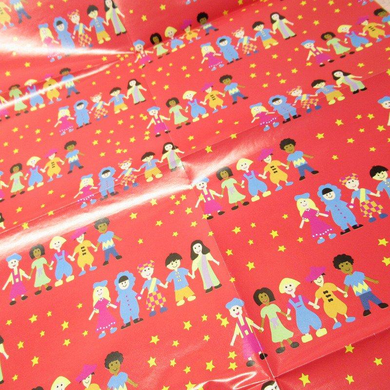 クリスマス ラッピングペーパー 世界の子供たち【画像2】