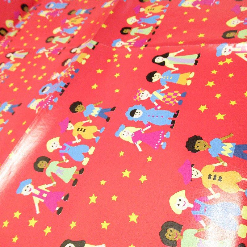 クリスマス ラッピングペーパー 世界の子供たち【画像3】