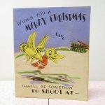 使用済  クリスマスカード バード Wish you a Merry Christmas 使用済