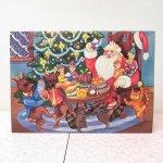 使用済  クリスマスカード サンタと動物のクリスマス 使用済