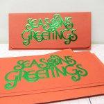 未使用  クリスマスカード Season's greetings 未使用 封筒付き有
