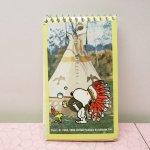 クリップ&クリップボード&ファイル&ノート  スヌーピー インディアン メモ帳