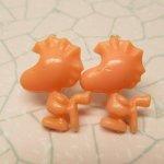 その他  スヌーピー と 仲間たち 画鋲 ピーチオレンジ ウッドストック