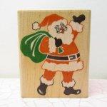 ゴム製  クリスマス 木製 スタンプ ビッグサンタ