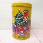 販促系  エムアンドエムズ M&Ms クリスマス ピーナッツ ティン缶