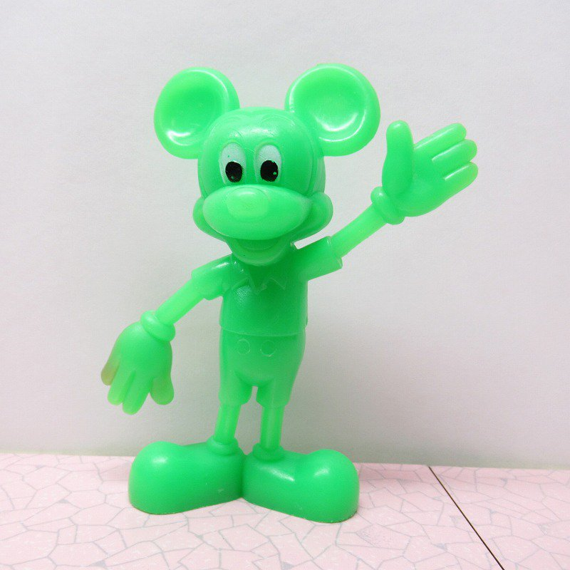 ミッキーマウス 1978年 PVCフィギュア 緑