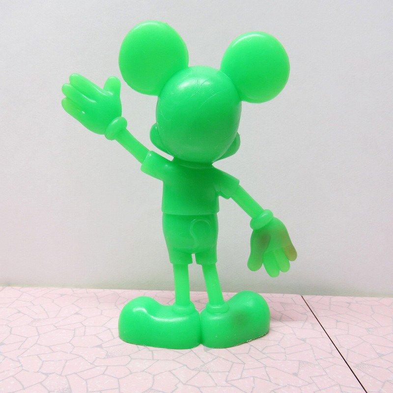 ミッキーマウス 1978年 PVCフィギュア 緑【画像3】