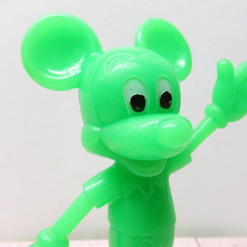 ミッキーマウス 1978年 PVCフィギュア 緑【画像6】