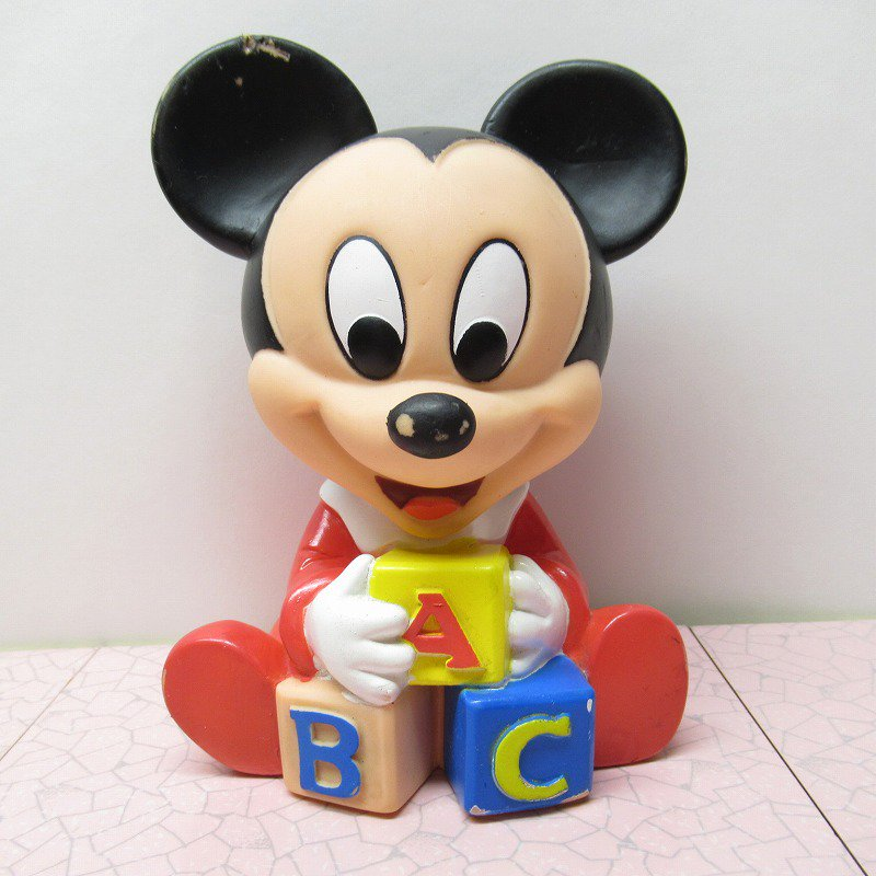 ミッキーマウス ベビーミッキー ABCブロック ソフビドール