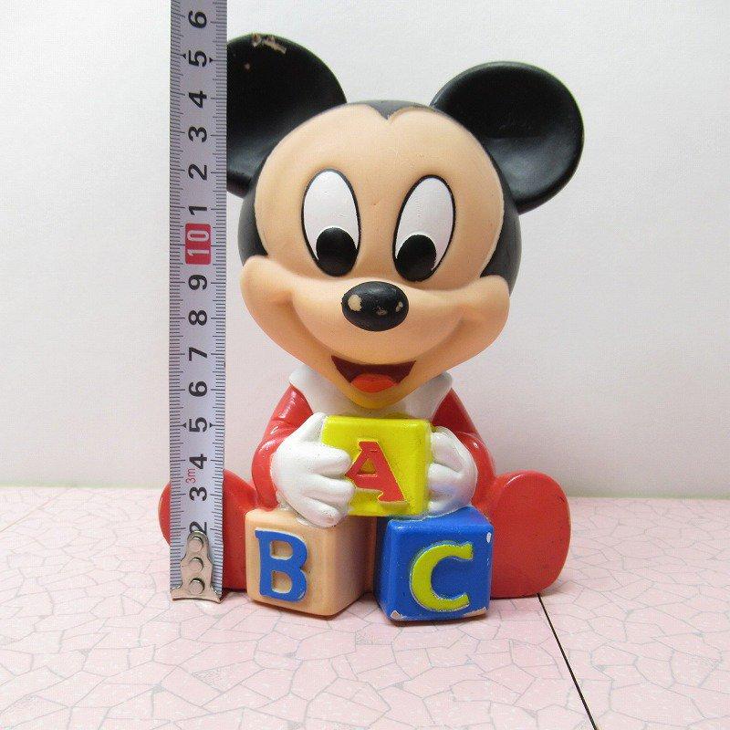 ミッキーマウス ベビーミッキー ABCブロック ソフビドール【画像13】