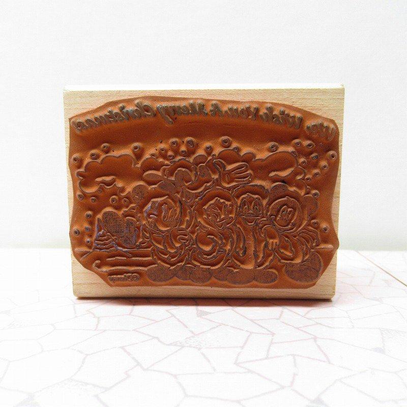 ミッキーマウス と仲間たち クリスマス用 木製スタンプ【画像5】
