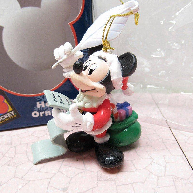 ミッキーマウス 箱付 クリスマス オーナメント サンタ と プレゼントリスト