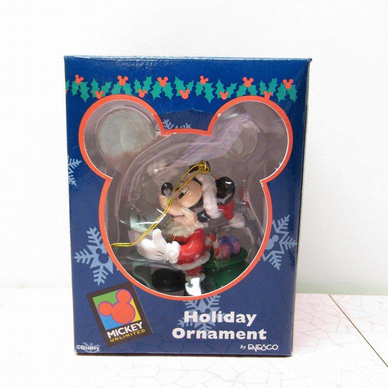 ミッキーマウス 箱付 クリスマス オーナメント サンタ と プレゼントリスト【画像11】