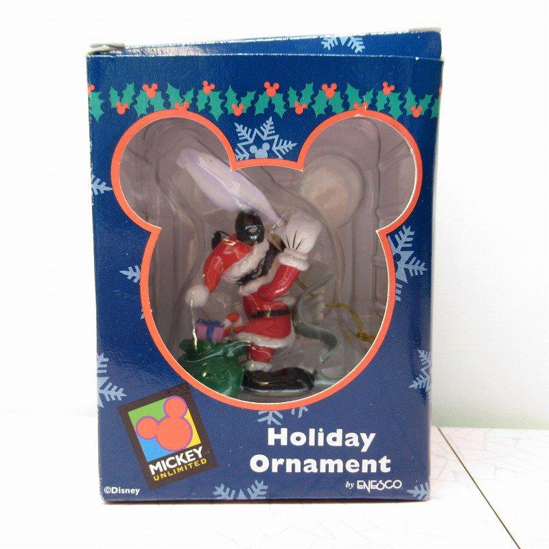 ミッキーマウス 箱付 クリスマス オーナメント サンタ と プレゼントリスト【画像13】