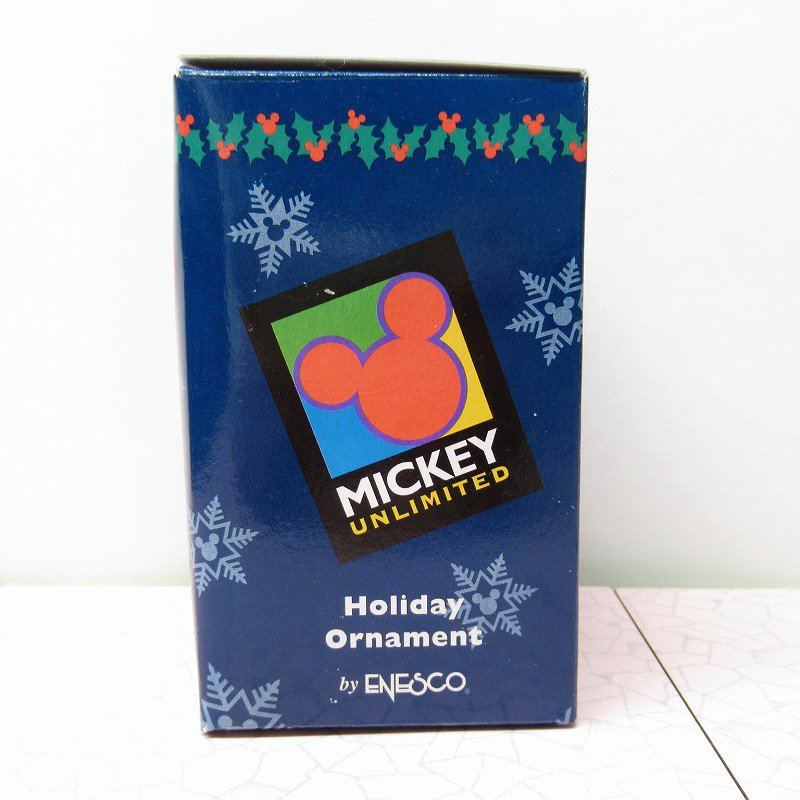 ミッキーマウス 箱付 クリスマス オーナメント サンタ と プレゼントリスト【画像14】