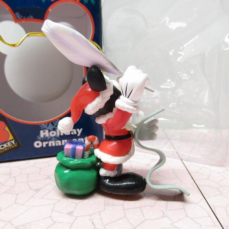 ミッキーマウス 箱付 クリスマス オーナメント サンタ と プレゼントリスト【画像4】