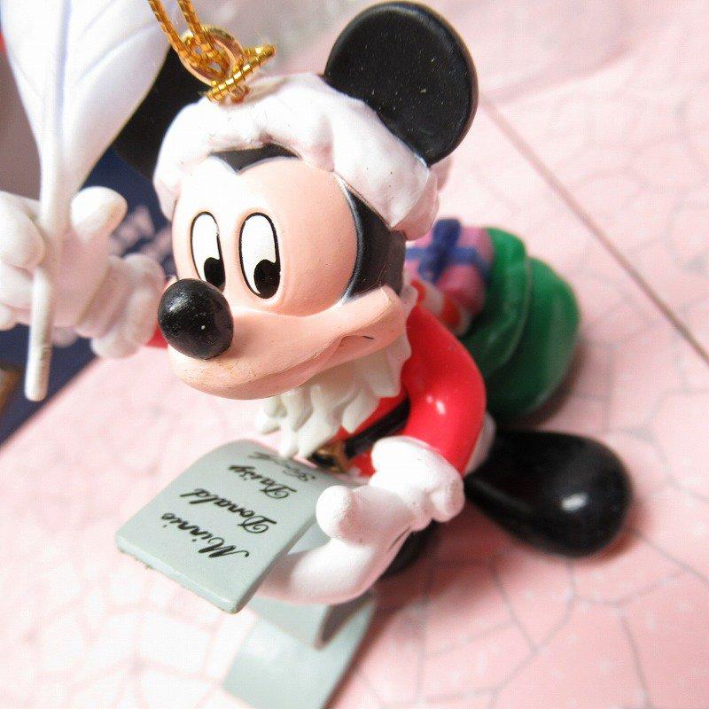 ミッキーマウス 箱付 クリスマス オーナメント サンタ と プレゼントリスト【画像6】