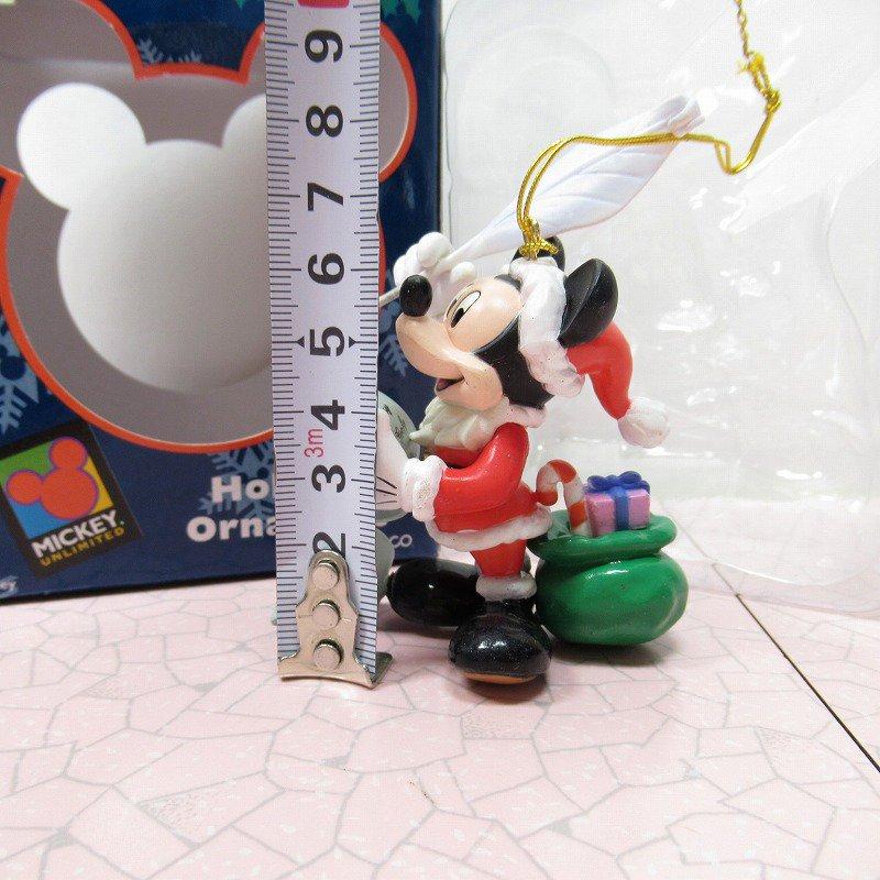 ミッキーマウス 箱付 クリスマス オーナメント サンタ と プレゼントリスト【画像8】