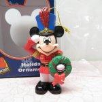 ツリーにつけるオーナメント  ミッキーマウス 箱付 クリスマス オーナメント マーチ と リース