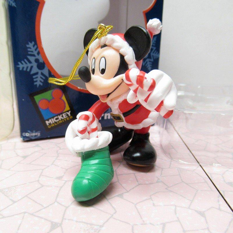 ミッキーマウス 箱付 クリスマス オーナメント 靴下 と キャンディケーン