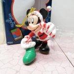 ツリーにつけるオーナメント  ミッキーマウス 箱付 クリスマス オーナメント 靴下 と キャンディケーン