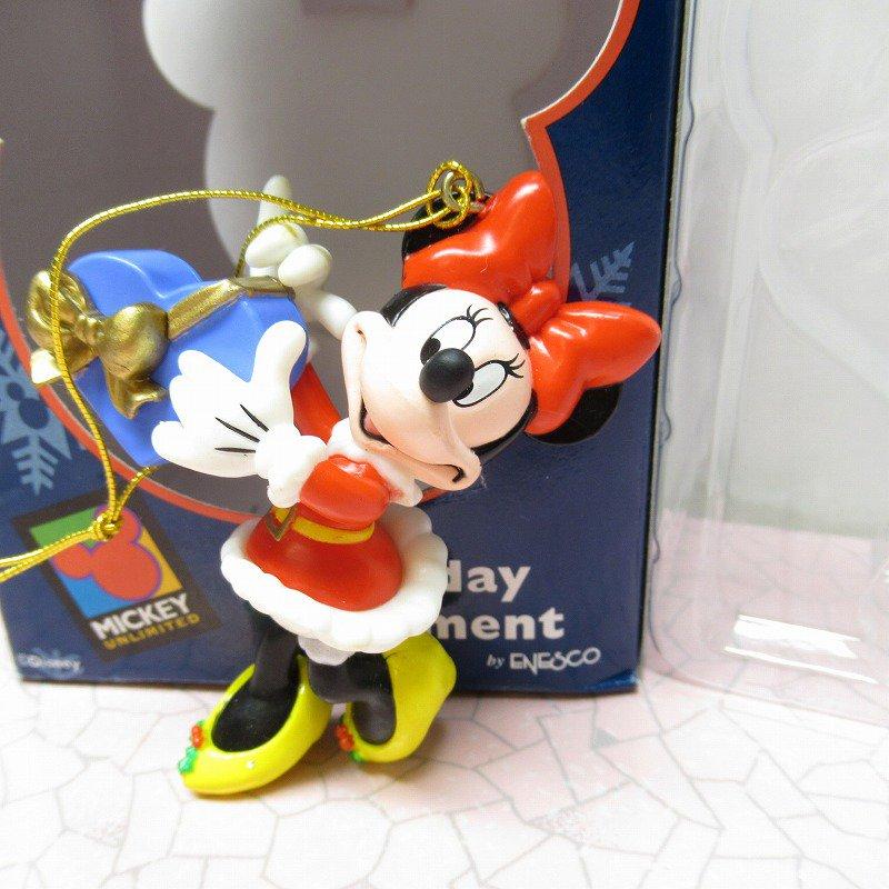 ミッキーマウス ミニー 箱付 クリスマス オーナメント ハートのプレゼント
