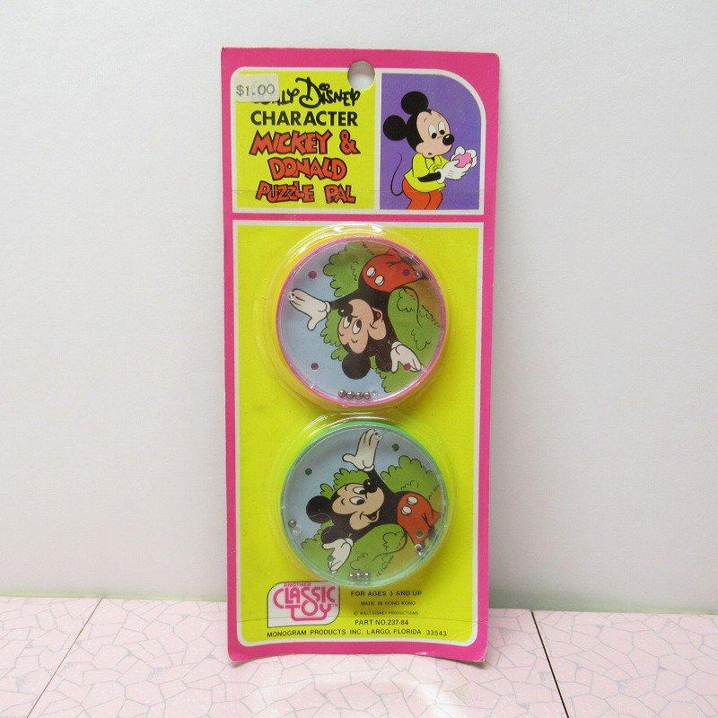 ミッキー プラスチック製 パズル デッドストック イレギュラー品