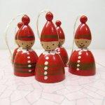 ツリーにつけるオーナメント  クリスマス オーナメント 木製 赤の小人