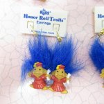 レディス  トロール人形 90年代 デッドストック 卒業式 ピアス 青髪