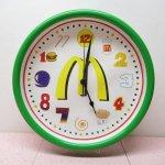 キッチン&リビング  マクドナルド フード文字盤 壁掛け時計