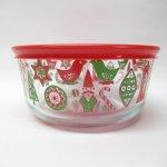 並行輸入品パイレックス  並行輸入品 パイレックス 強化ガラス 保存容器 クリスマスバード 4カップ
