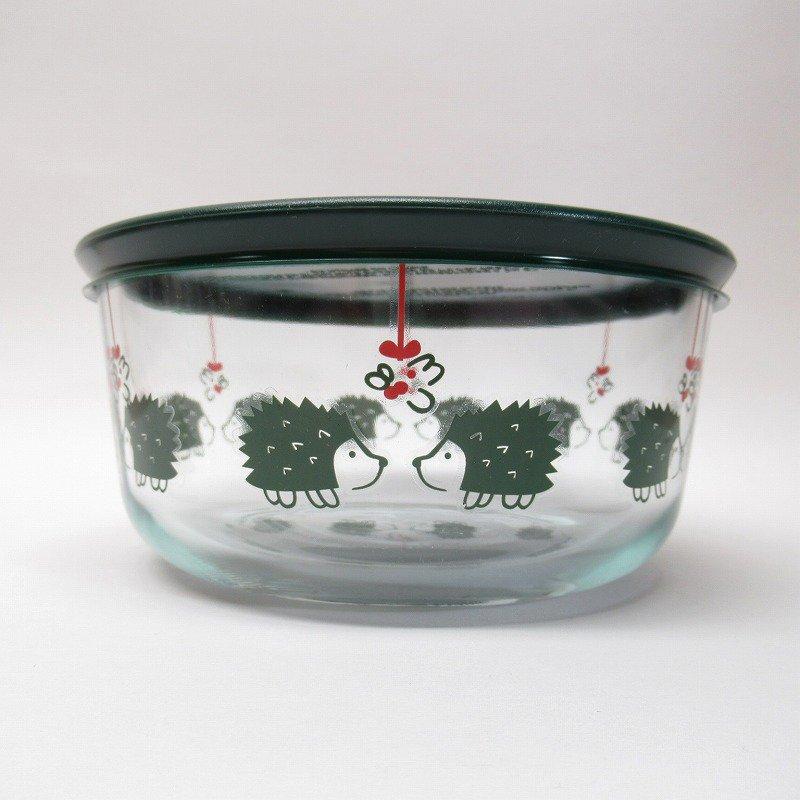 並行輸入品 パイレックス 強化ガラス 保存容器 クリスマスとはりねずみ 4カップ