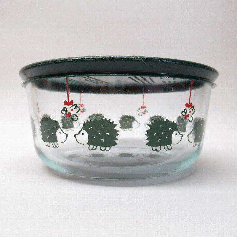 並行輸入品 パイレックス 強化ガラス 保存容器 クリスマスとはりねずみ 4カップ【画像2】