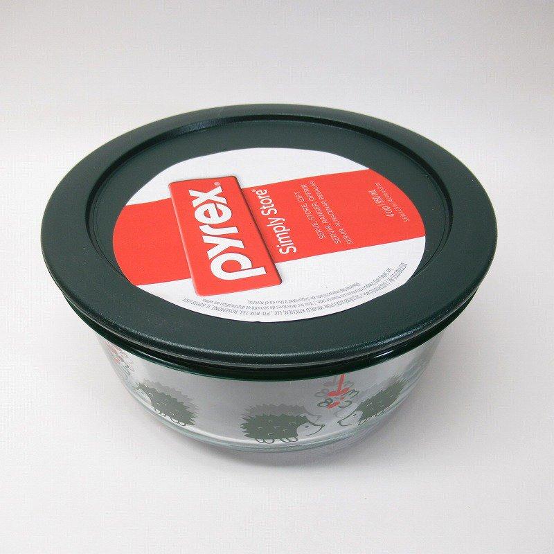 並行輸入品 パイレックス 強化ガラス 保存容器 クリスマスとはりねずみ 4カップ【画像3】