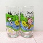 アドバタイジング  スヌーピー マクドナルド キャンプ グラス 1983年 RATS!
