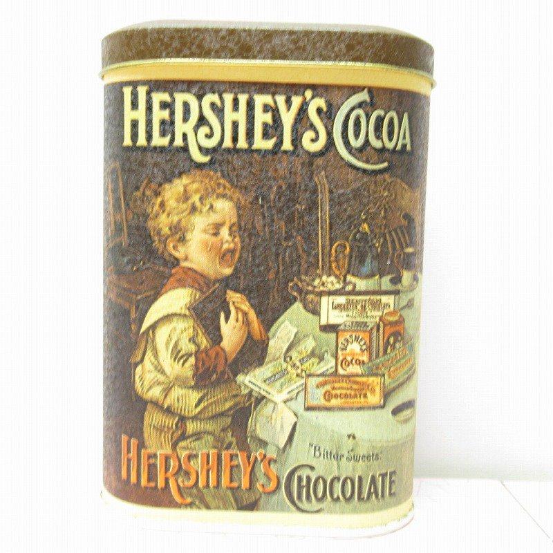 ハーシーズ アンティーク風プリント イギリス製 1984年 ティン缶