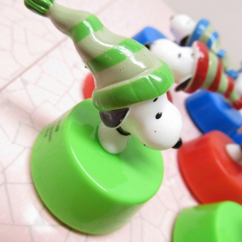 スヌーピー クリスマス 毛糸の帽子 プルバック トイ【画像3】