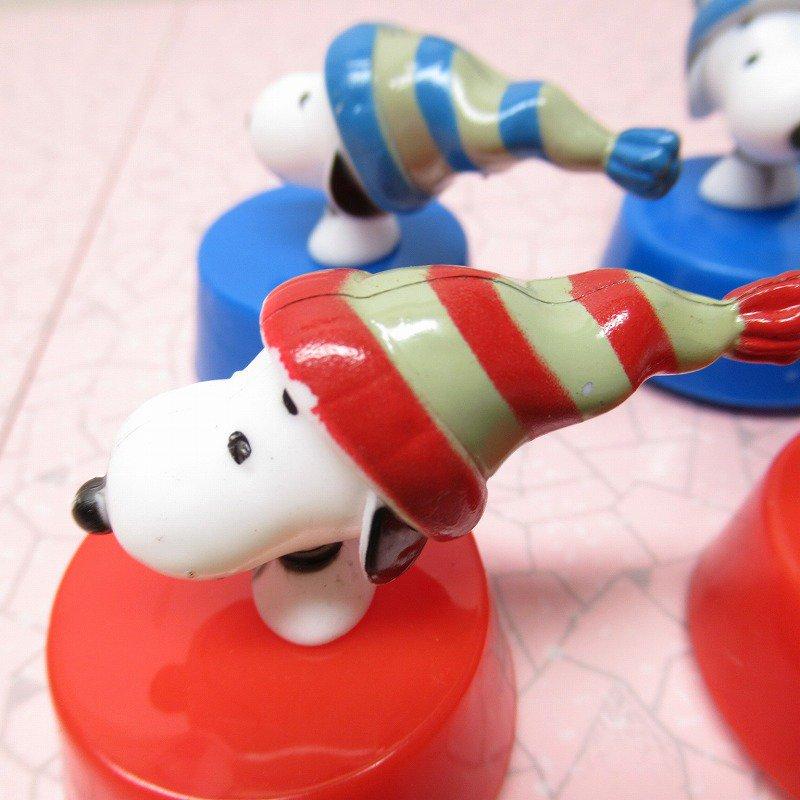 スヌーピー クリスマス 毛糸の帽子 プルバック トイ【画像4】