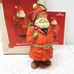 ツリーにつけるオーナメント  クリスマス オーナメント ホールマーク 箱付 サンタクロース