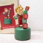 ツリーにつけるオーナメント  クリスマス オーナメント ホールマーク 箱付 男の子と木製ブロック