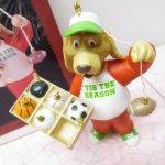 ツリーにつけるオーナメント  クリスマス オーナメント ホールマーク 箱付 犬とスポーツオーナメント