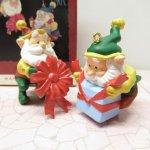 ツリーにつけるオーナメント  クリスマス オーナメント ホールマーク 箱付 二人のサンタ