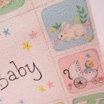 使用済  ヴィンテージカード For Baby アルファベットブロック